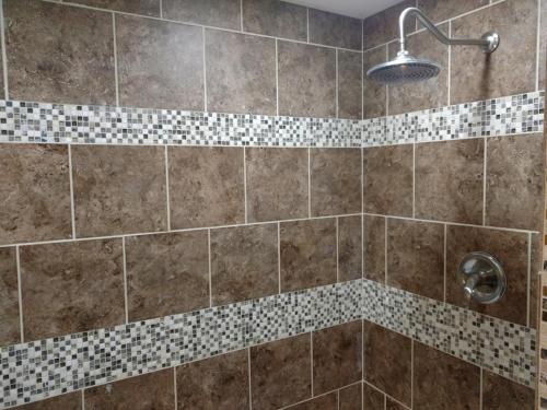 Tile Shower with Rain Head