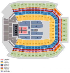 Kenny Chesney Seating Lucas Oil Stadium May 9, 2015