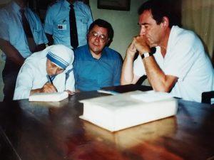 Doug Coe, David Laux, Mother Teresa